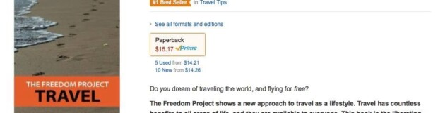 "Travel hacking and lifestyle book ""The Freedom Project: Travel""  becomes #1 international best seller"